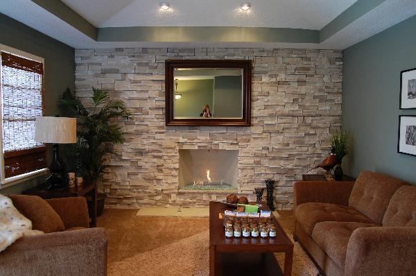 Stone Living Room Ideas Traditional Living Room