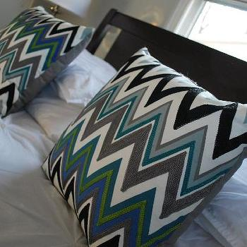 Nuestra Vida Dulce - bedrooms - chevron pillows, bed in front of window, zigzag pillows, target pillows, Target Zigzag Pillow,  My inspiration