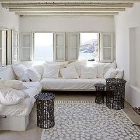 living rooms - sectional, sectional sofa, white sectional, white sectional sofa, slipcovered sectional, slipcovered sectional sofa, white slipcovered sectional, white slipcovered sectional sofa, built in sectional, built in sectional sofa,