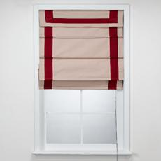 Window Treatments - Bed Bath & Beyond - Dublin Hotel Red Roman Shades - roman shade