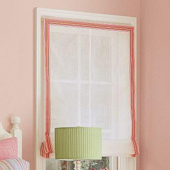 Window Treatments - PBteen | Grosgrain-Ribbon Roman Shade - roman shades