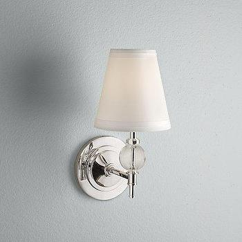 Lighting - Wilshire Sconce Polished Nickel - January Bath Event - sconce