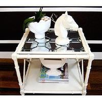 Tables - KristanCunningham.com - diy mirrored table top.