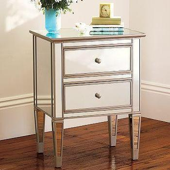 Storage Furniture - Park Mirrored Bedside Table | Pottery Barn - potter barn mirrored bedside table