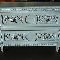 Storage Furniture - Shabby Chic Painted Hollywood Regency Chest Draper KWID - eBay (item 120399332444 end time Apr-05-09 19:12:13 PDT) - chest