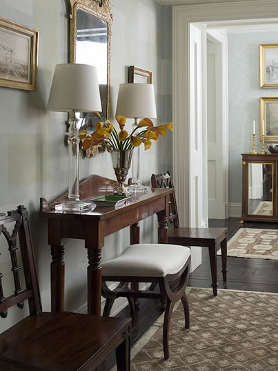 Blue Foyer Paint : Elegant foyer traditional entrance sherwin