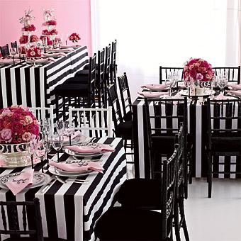 Miscellaneous - Wedding Receptions Magazines: Black, White and Pink | Brides.com - Black, white and pink.