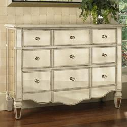 Storage Furniture - Hand-painted Mirrored Drawer Accent Chest  from Overstock.com - Mirrored Chest
