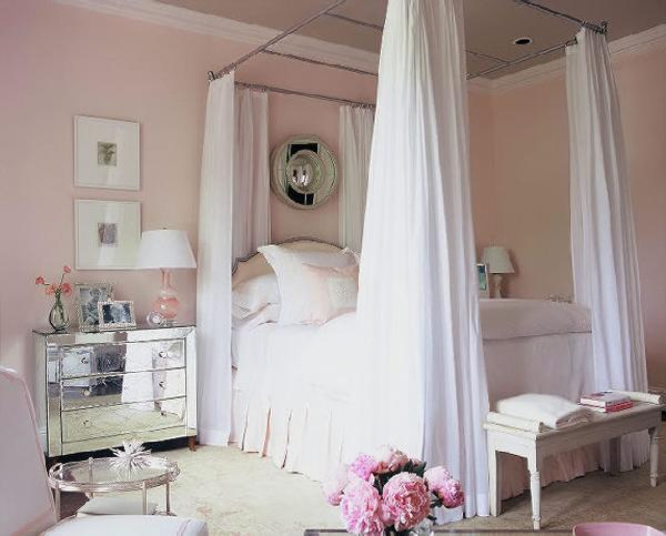 Home decoration with pale pink
