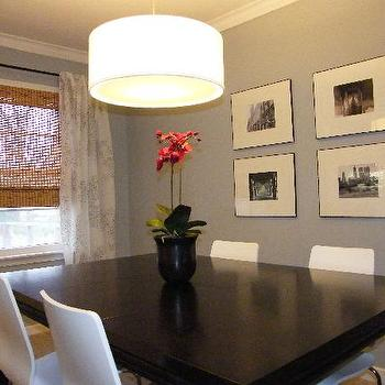 Ikea Curtains, Contemporary, dining room, Olympic Grey Frost