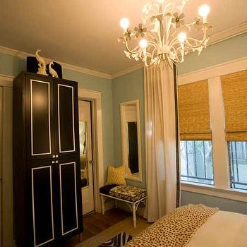 Black and White Armoire, Contemporary, bedroom, Turquoise LA