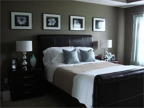 Bedroom for Master bedroom paint color ideas with dark furniture