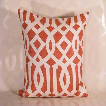 Handmade Housewares on Etsy, Mandarin Imperial Trellis Pillow by decorativeinstincts