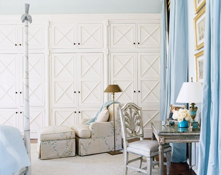 Suzie:  Thanks to HB!    Love the detailing on the paneled closet doors! White cream paint ...