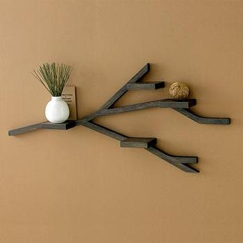 Decor/Accessories - branch shelf | west elm - wood, shelf, organic