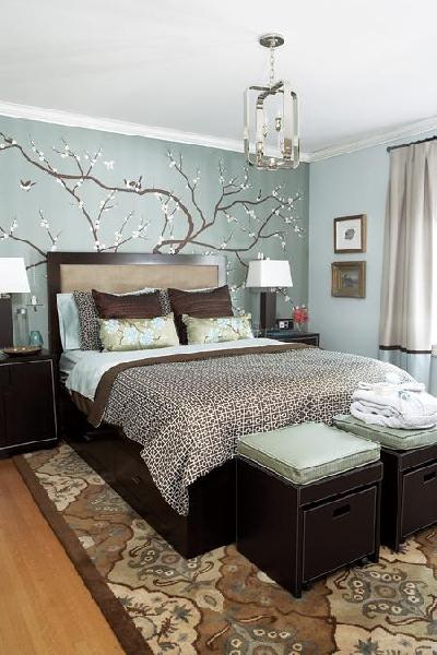 Bedroom Accent Wall Contemporary Bedroom House Home