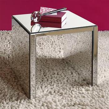 Tables - mirror side table | west elm - table, mirror, mirrored