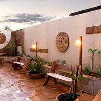 gardens - garden, lights, plants,  Natural elements!!!! Love it!  outdoor space