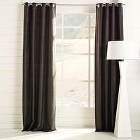 Window Treatments - silk dupioni window panel | west elm - drapes, panels