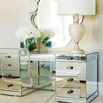 Mirrored Vanity, Traditional, bedroom, Atlanta Homes & Lifestyles