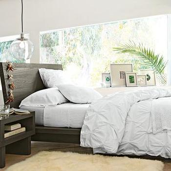 Bedding - organic cotton pin-tuck duvet cover + shams | west elm - bedding