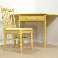 Storage Furniture - FAUX BAMBOO Hollywood Regency CORNER DESK yellow - eBay (item 170329700159 end time May-14-09 19:16:00 PDT) - desk