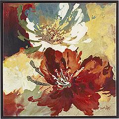 Art/Wall Decor - Pier 1 Imports - Symphony Wall Art - floral canvas art red yellow blue