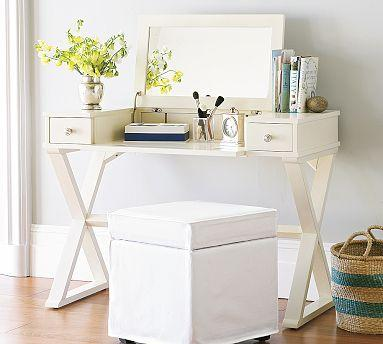 Storage Furniture - Madeline Smart Technology�?¢â??�?¢ Make-Up Table | Pottery Barn - vanity