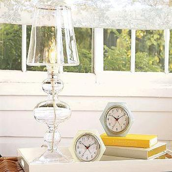 Lighting - Glass Candlestick Lamp | Pottery Barn - lamp, ghost