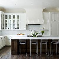James Michael Howard - kitchens - ikea cabinets, ikea kitchen cabinets, 2 tone kitchen, concealed fridge, concealed refrigerator,  Elegant two-toned