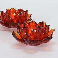 Decor/Accessories - Amber Flower Tealight - candle holder, tealights