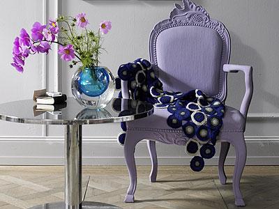 Purple Living Room Furniture on Miscellaneous   Purple Chair  Metallic Table  Parquet Wood Floors