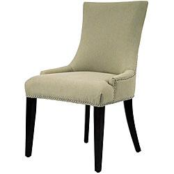 Seating - Becca Linen Dining Chair from Overstock.com - nail head trim, dining chair