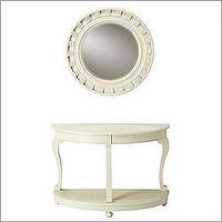 Tables - Cooper Classics 3300/3301 - Seabrook White 38 - mirror and console table