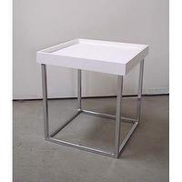 Tables - Small White Stack Table in Accent Tables from Bellacor - side table