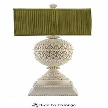 Lighting - Shine Cinnabar Lamp in Antique White - lamp