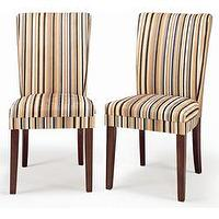 Seating - Parson Striped Upholstered Dining Chair (Set of Two) from Overstock.com - dining chairs