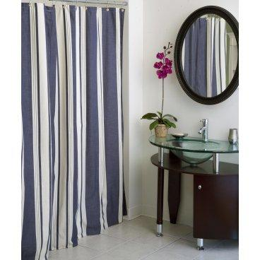 Marina Stripe Shower Curtain - Shower Curtains at Shower Curtains ...