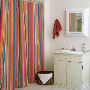Le Jardin Stripe Shower Curtain - Shower Curtains at Shower ...