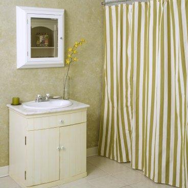 Summer Palm Stripe Shower Curtain - Shower Curtains at Shower ...