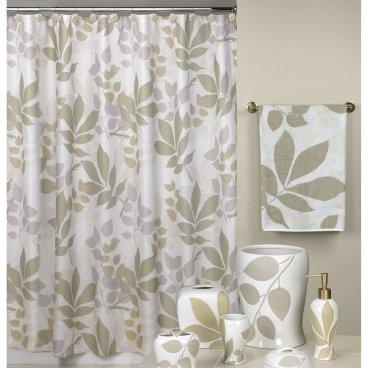 Shadow Leaves Shower Curtain - Shower Curtains at Shower Curtains ...
