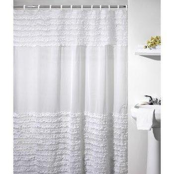 Bath - Ruffles Shower Curtain - Shower Curtains at Shower Curtains Galore - shower curtain