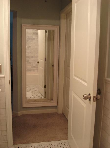 Ikea Floor Mirror Transitional Bathroom Benjamin