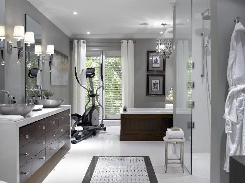 Luxury White Gray Bathroom Design