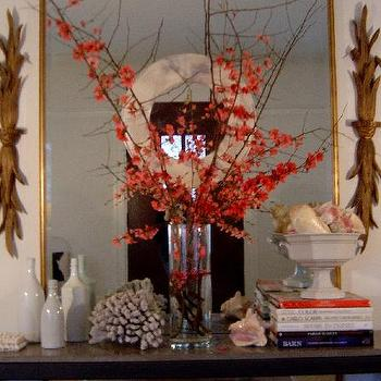 Decor/Accessories - floral branches - floral, flower, branch, orange