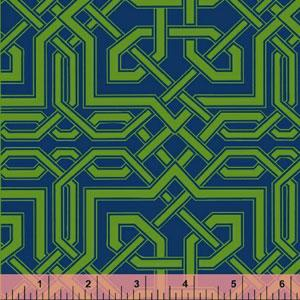 Fabrics - Celtic Knot Blue ~ Darcey - green and blue fabric