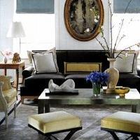 Living rooms sofa x base ottoman gray yellow blue roman