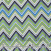 Fabrics - Chevron Blue ~ Darcey - chevron  fabric