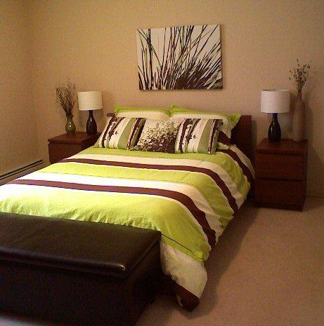 Green brown bedding - Brown and green bedroom ...