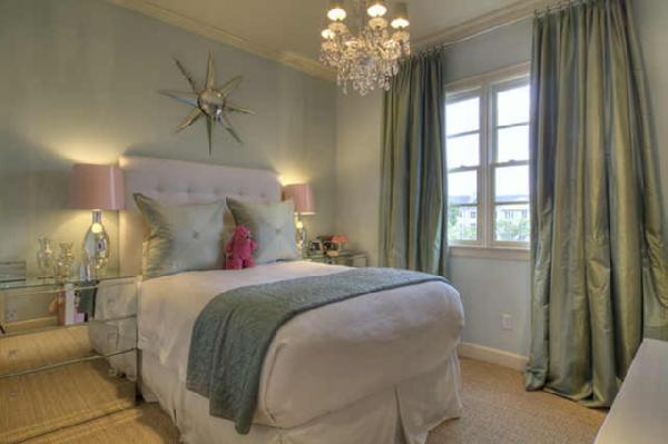 girls bedrooms blue. edrooms - chandelier silver